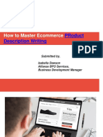 How to Master ECommerce Product Description Writing