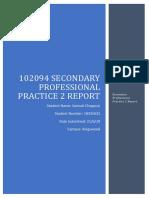 102094 secondary professional practice 2 - report