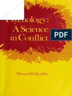 Psychology a Science in Conflict