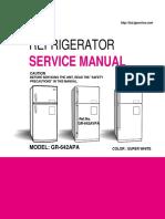 ServiceManuals LG Fridge GR642APA GR-642APA Service Manual