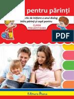 Sfaturi Pentru Părinți - Clasa Pregătitoare