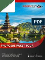 Proposal Tour Bali