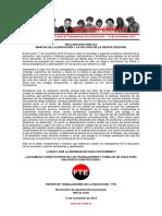 12nov2019 - Fte - Marcha de La Educación y La Política de La Despolitización