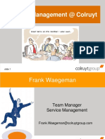 Service Management @ Colruyt for Young Professionals