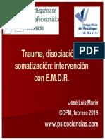 Trauma, Disociación y Somatización; Intervención Con E.M.D.R.
