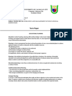 Organization and Management of Educational Institution