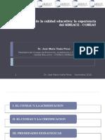 Visión Peruana de la Calidad Educativa - La experiencia del SINEACE - Dr. José María Viaña
