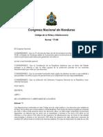 Código de la Niñez y Adolescencia de Honduras