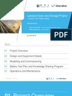 Presentation Lakeland Solar Storage Project
