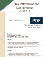 Pfr report