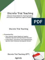 DTT Training for CEC