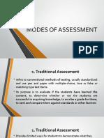 4 Modes of Assessment