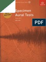 Specimen Aural Test 1 - 3