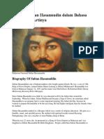 Biografi Sultan Hasannudin Dalam Bahasa Inggris Dan Artinya