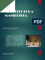ARQUITECTURA MANIERISTA (1)