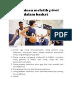 Permainan Melatih Pivot Dalam Basket