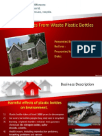 Houses From Waste Plastic Bottles