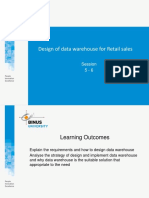 Design of Data Warehouse for Retail Sales Case