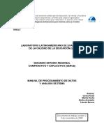 SEGUNDO ESTUDIO REGIONAL COMPARATIVO Y EXPLICATIVO (SERCE)