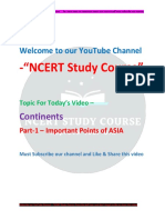 Asia Continent Notes by Ncert Study Course