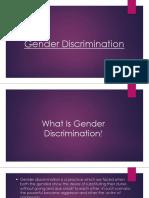 Gender Discrimination
