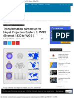 Transformation Parameter for Nepal Projection System to WGS (Everest 1830 to WG