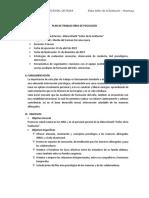Plan de Trabajo Área de Psicología 2019