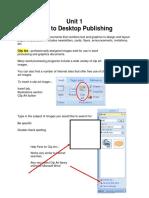 2011 Gr 8 Unit 1 Intro to Desktop Lecture Notes