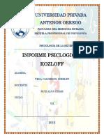 Informe kozloff