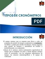 TIPOS DE CRONÓMETROS
