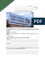 AVALIAÇÃO 9° ANO LÍNGUA PORTUGUESA UNID III