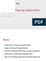 HARP 12 Visual and Hearing Impairments