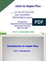 Introduction to Aspen Plus --2014