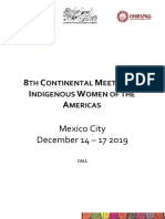 Call 8th Continental Meeting of Indigenous Women of The Americas