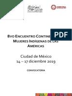 Convocatoria 8vo Encuentro Continental de Mujeres Indígenas de Las Américas