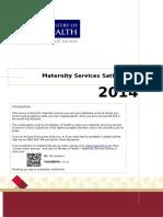 Maternity Services Satisfaction Survey Questionnaire Sep15