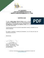 Certificacion Laboral 2016 Construsamiraco Conductor