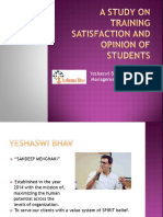 A Study on Training Satisfaction and Opinion of Students