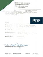 Elijah McClain Autopsy Report