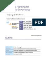 Strategic Planning for Electronic Governance