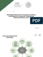 Estrategia Nacional de Formación Continua, Actualizacion y Desarrollo Profesional Basica 2017