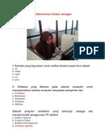 Soal Dan Jawaban Administrasi Sistem Jaringan