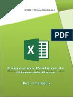 Exercícios práticos de Microsoft Excel - Nível Intermédio