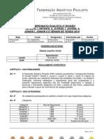 Regulamento - Campeonato Paulista Da 2 Divisao - Santa Barba D Oeste