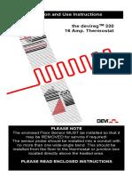 Devi Reg 330 Installation