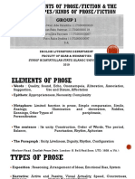 The Elements of Prose & Types of Prose