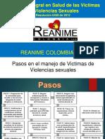 Pasos manejo de victimas de violencia sexual (Reanime)