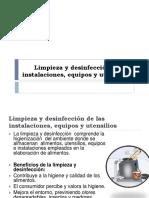 Limpieza y Desinfeccion de Instalaciones y Equipos