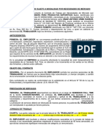 contrato mype full time