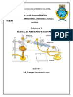 TÉCNICAS DE PURIFICACIÓN DE SUSTANCIAS quimica